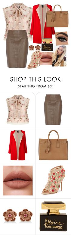 """Untitled #572"" by ancamlk ❤ liked on Polyvore featuring Needle & Thread, Raoul, IRIS VON ARNIM, Yves Saint Laurent, Manolo Blahnik, Allurez and Dolce&Gabbana"