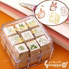 Studio Ghibli My Neighbor Totoro Mini Rubber Stamp Set (x9 Stamps)