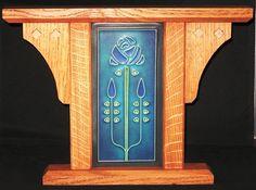 "Original Design 4"" x 8"" Craftsman Style Motawi Tile Frame"