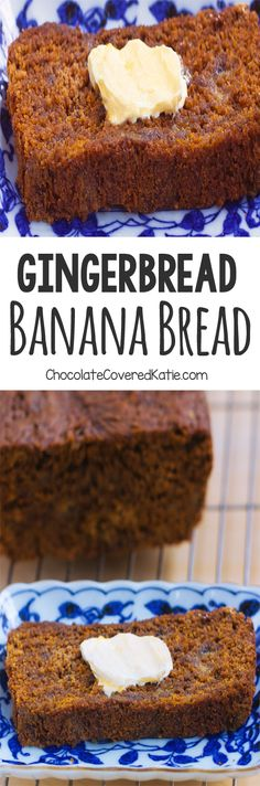 Gingerbread Banana Bread, so soft and moist, it's perfect for Christmas breakfast!