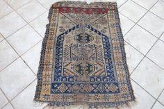 Anatolian Vintage Prayer Rug, Seljuk Design, Turkish Rug, Very Old, Shabby Chic, Worn Rug, Handmade Rug by NotonlyRugs on Etsy