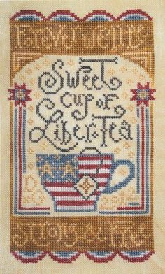 Liber Tea Needlepoint for 4th of July