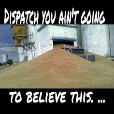 Well his boss said quit pulling partial damn loads :-) Big Rig Trucks, Semi Trucks, Farm Humor, Truck Humor, Trucks And Girls, Construction, Wow Products, Fails, Life Is Good