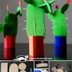 Unique DIY Cactus Crafts - No Watering Required! - DIY Candy - - Looking for a cute plant project that is guaranteed to be drought resistant? Check out one of these 15 DIY cactus crafts! Kids Crafts, Summer Crafts, Projects For Kids, Diy For Kids, Craft Projects, Cardboard Crafts, Paper Crafts, Diy Pour Enfants, Cactus Craft
