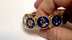 Navy Blue Nautical Anchor Bracelet $29.95 http://www.teramasu.com/collections/fashion-jewelry-bracelets/products/anchor-blue-enamel-gold-nautical-stretch-bracelet