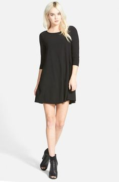 Leith+Crepe+Trapeze+Dress+available+at+#Nordstrom