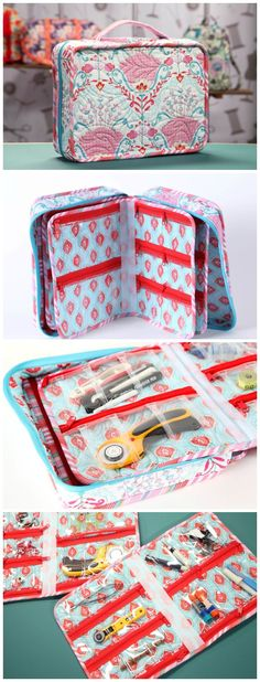 How to sew stylish and sturdy travel bags and organisers.  Includes a cosmetics/toiletries roll, and a small suitcase with removable zippered inserts.  Sewing patterns and full step by step video tutorials. http://amzn.to/2u2NZAW