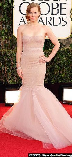 A. Maz. Ing. We adore Amy Adams and her BLUSH gown from the Golden Globes red carpet. Learn how to use off-whites, blush and more as your wedding gown from Blush's bridal stylists.