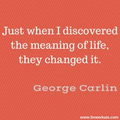 Just when I discovered the meaning of life, they changed it. George Carlin, Meaning Of Life, I Laughed, Meant To Be, Change, Nice, Words, Funny, Quotes