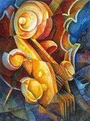 Fractured Cello  by Susanne Clark
