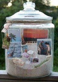 A beach memory jar.......great centerpiece!!