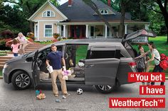 4 hours + 3 kids + 2 pit stops = 1 epic road trip to Grandma's house. You bet I have WeatherTech®.