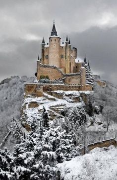 alcazar-castle-of-segovia-spain.jpg Photo: This Photo was uploaded by staffpicks. Find other alcazar-castle-of-segovia-spain.jpg pictures and photos or . Places Around The World, Oh The Places You'll Go, Places To Travel, Places To Visit, Around The Worlds, Travel Destinations, Winter Destinations, Tourist Places, Amazing Destinations