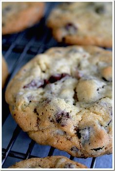 Chocolate Cherry Chunk Cookies