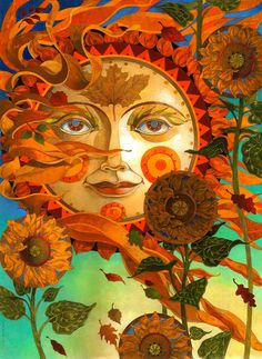 autumn sun by artmeister on Etsy, $450.00 Artist: david galchutt - an illustrator/painter. www.davidgalchutt.com
