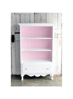 Bookcase with Drawer in Distressed White  - so cute for my lil'ones room