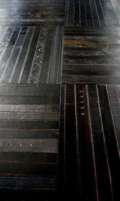 Black Leather Belt Floor