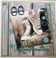 Felicita Design Toppers First Communion Cards, Homemade Greeting Cards, Diy Cards, Mini Albums, High Top Sneakers, Converse, Paper Crafts, Scrapbook, Handmade