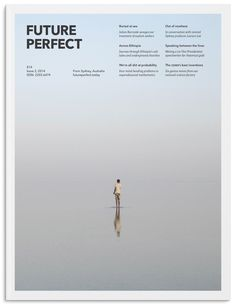 Future Perfect Magazine Cover Example of modern graphic design using grid and active white space Graphisches Design, Book Design, Layout Design, Design Trends, Design Ideas, Graphic Design Posters, Graphic Design Inspiration, Typography Design, Minimalist Poster Design