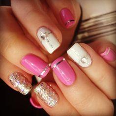 #nails #nailstagram #nailsofinstagram #nailart #ignails #naildesign #nailart #instanails #gliternails #gemstonenails # 3Dnails #diamondnails #stud #cute #sweetynailnspa @Erika McCann Nail n Spa