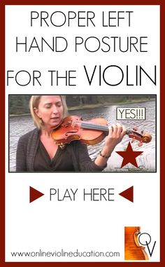 Proper Posture of the left hand for violin. Training Video!