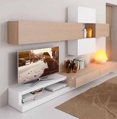 Tv Furniture, Italian Furniture, Furniture Design, Modern Tv Wall, Living Room Tv, Etagere Tv, Home Design Plans, Tv Wall Design, Drawing Room