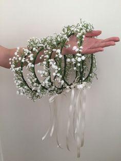 Souffle du bébé fille fleur couronne couronne de par Rosyrosemelb
