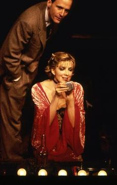 """CABARET PRODUCTION PHOTOGRAPH FEATURING NATASHA RICHARDSON (Sally Bowles) AND JOHN BENJAMIN HICKEY (Cliff Bradshaw) - """"Oh Cliff, you musn't ask me any questions. If I want to tell you something, I will."""""""