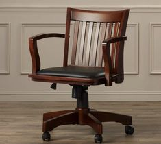 18 Modern Farmhouse Office Chairs for Your Workspace - Finding Sea Turtles Wooden Office Chair, Wooden Dining Room Chairs, Home Office Chairs, Living Room Chairs, Desk Chairs, Bar Chairs, Wooden Desk, Lounge Chairs, Desk Office