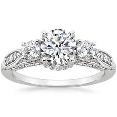 Platinum+Three+Stone+Heirloom+Diamond+Ring+(1/2+ct.+tw.)+from+Brilliant+Earth