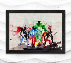 Hey, I found this really awesome Etsy listing at https://www.etsy.com/listing/216116881/superhero-watercolor-print-avengers