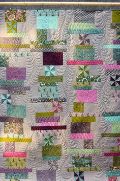 Check out the quilting on this quilt by Tula Pink!