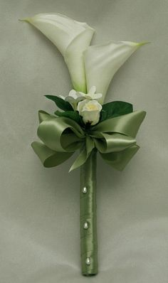 Attendants: use orange mini roses, bling, = elegant-calla-lily-bridal-bouquet by chicpix09, via Flickr