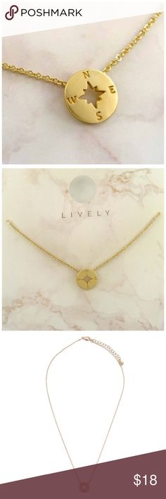 """""""Go Your Own Way"""" Dainty Compass Charm Necklace A high quality metal compass charm sits delicately on a dainty durable chain.  The smooth brush plating adds a unique finishing touch to this trend setting Necklace.    Size + Fit Chain Length 15"""" Pendant  0.47""""   Nickel free Lead free 3"""" Ball Extender Jewelry Necklaces"""