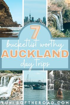 Auckland NZ is surrounded with awesome day trips for people of all interests. Here are our 7 best free day trips from Auckland to beaches, adventure & more! Travel to New Zealand and explore Auckland New Zealand and the best of the surrounding Auckland area! Use these New Zealand travel tips for an amazing New Zealand vacation with day trips to explore. Escape the city with these road trip guides and the best thing to do in Raglan New Zealand, Piahia New Zealand, Russel New Zealand and more! Travel Articles, Travel Info, Travel Usa, Travel Tips, Australia Destinations, Australia Travel, Travel Destinations, New Zealand Itinerary, New Zealand Travel Guide