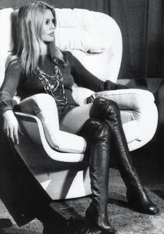 Bridget Bardot in her over the knee black boots which are still being worn many many years on