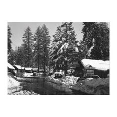 Big Bear Lake, CA Fawnskin Camp Photograph Canvas Print