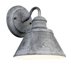 Hampton Bay 1-Light Outdoor Zinc Wall Lantern-HSP1691A at The Home Depot