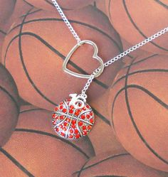Items similar to SALE - Pink Basketball Lariat Necklace with Rhinestones, Heart and Number Pendant, Handmade on Etsy Basketball Videos, Basketball Is Life, Basketball Shoes, Basketball Stuff, Basketball Motivation, Basketball Birthday, Basketball Players, Butler Basketball, Basketball Crafts