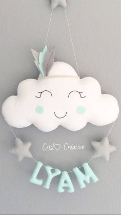 Indian cloud - The Effective Pictures We Offer You About diy A quality picture can tell you many things. Baby Crafts, Felt Crafts, Diy And Crafts, Love Sewing, Baby Sewing, Felt Pillow, Quilted Pillow, Baby Mobile, Ideias Diy