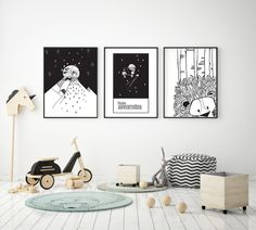 Bunny and Lion and Tiger, Oh My! Modern Room, A3, Daydream, All Art, Art For Kids, Monkey, Craft Supplies, Lion, Gallery Wall