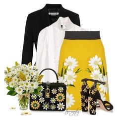 Have a Daisy of a Day! by tammynky on Polyvore featuring Dolce&Gabbana and Givenchy