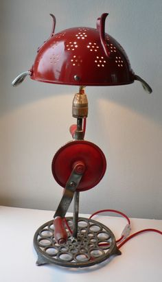 creation lampe récup CAPITAINE ROUGE