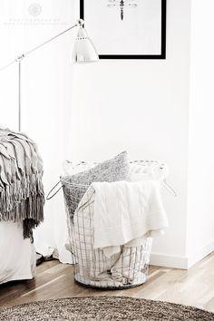 Blanket basket under frame                                                                                                                                                                                 More