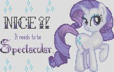 RARITY My Little Pony Cross Stitch Pattern PDF Format