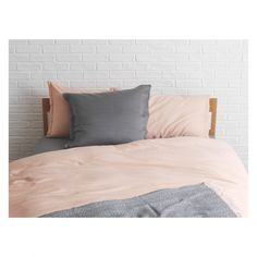 WASHED SATEEN Pink double duvet cover- pink and grey main bedroom with soft grey back wall?