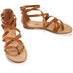 Tan Strappy Leather Sandals