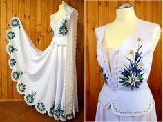 Poland: handpainted weddng dress from the region of Podhale Polish Wedding, Baby Dress Design, Folk Costume, Costumes, Embroidered Clothes, Wedding Wishes, Traditional Dresses, Cute Dresses, Bridal Dresses