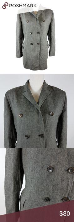 Jil Sander Oversize Blazer Jacket Gray Wool 42 L