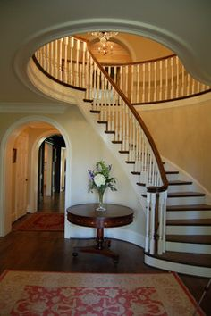 Best Decor Ideas For Curved Stairway Entry Wall On Pinterest 640 x 480
